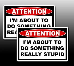 ... Off Road Mud Bog Truck Sled Warning Sticker Decal Do Something Stupid