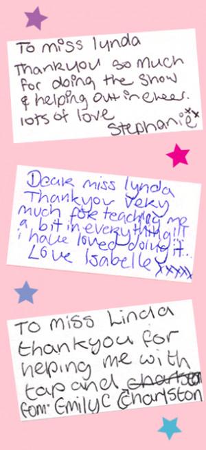 phillomenadanceschool....Thank you messages from