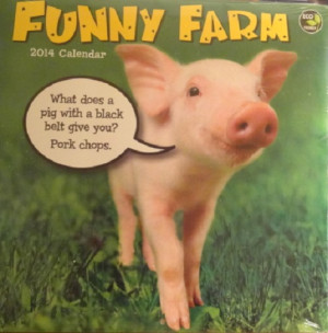 Each funny saying has an insert pertaining to the animal in the ...