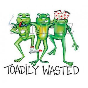 Toadily Wasted - Humorous and Funny - keywords: frog, toad, humor ...