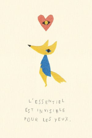 Love this paper-cut version of the fox and his quote on friendships.