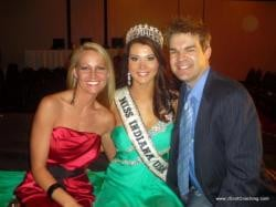 Allison Biehle, Miss Indiana USA 2010 - getting quote & Katherine Cain