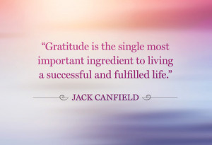 Jack Canfield gratitude quote