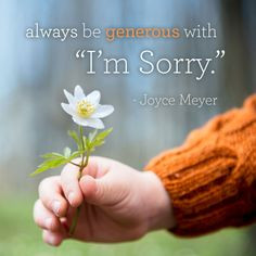 Always be generous with