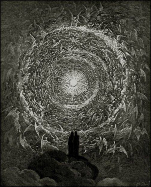 Gustave Dore (1832-83) - The Saintly Throng in theForm of a Rose - The ...
