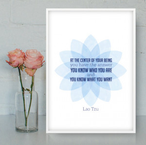 Lao Tzu quote, Printable Wall Art, Wall decor, Inspirational quote ...