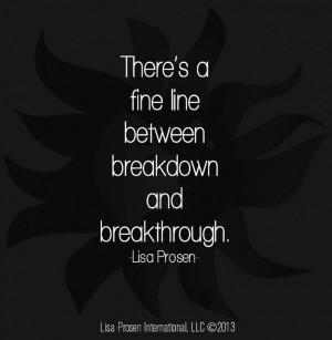 Breakthrough vs down quote via www.MyRenewedMind.org