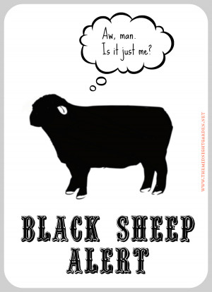 black sheep alert