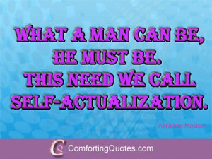 Quotes on Self-Actualization by Abraham Maslow