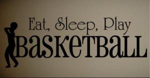 ... Art Sticker Quote Vinyl Wall Quote Eat Sleep Basketball Kids Art Decal