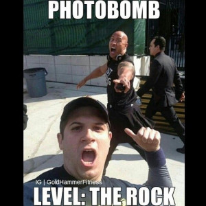 The Rock photobomb - Motivation