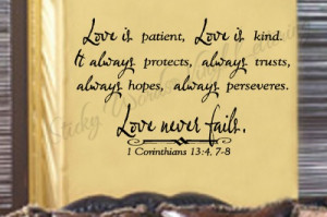 Love is patient 23x36 Vinyl Lettering Wall Quotes Words Sticky Art