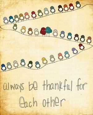 Being Thankful Thanksgiving