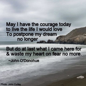 ... what i came here for and waste my heart on fear no more john o donohue
