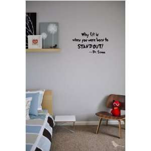 Dr. Seuss cute wall quotes sayings art vinyl wall decal Home