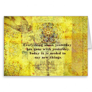 Rumi quote on healing greeting card