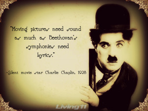 Charlie Chaplin proclaims his voiceless presence in the future of film ...