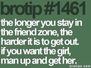 friendzone. Grow some balls dude!!