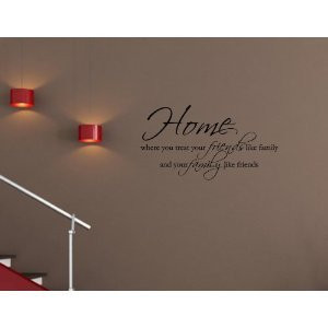 Wall Art decals home decor vinyl letters Friends Family Love quotes ...
