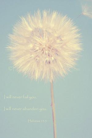 Make a Wish Dandelion Hebrews 135 Nature by KnowGodThroughArt, $28.00