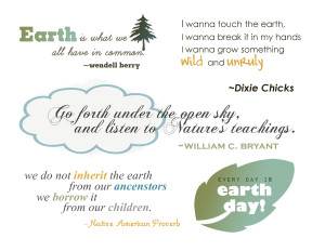 Earth Day and Nature Quotes and Word Art for Your Scrapbook Layouts