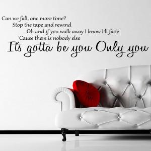 One Direction Gotta Be You Lyrics Wall Sticker 1