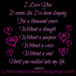 Cute Love quotes and sayings for him and for her - I love you