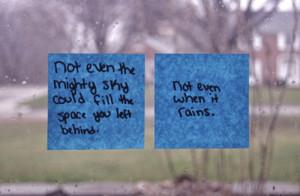 love, quote, rain, sad, text, words