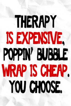 Bubble wrap popping it is