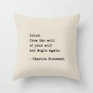 colours, Charles Bukowski DRINK Quote Pillow Cover, Home decor ...