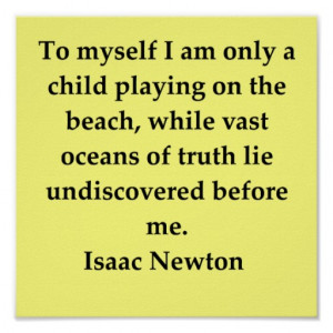 sir isaac newton quote posters