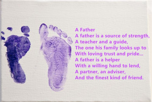 Hope That These Best Happy Father's Day Poems From Baby Footprints ...