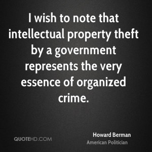 wish to note that intellectual property theft by a government ...