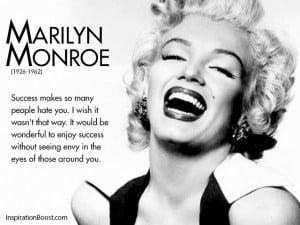 Marilyn Monroe Success Quotes