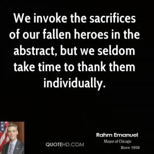Fallen Heroes Quotes