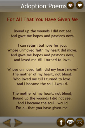 Download Famous Adoption Poems by Feel Social iPhone iPad iOS