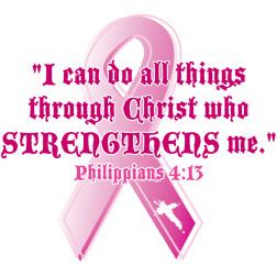 Philippians 4:13 pink ribbon