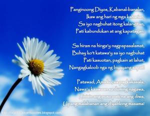 Tagalog Prayers and Christian Quotes