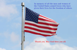 ... Memorial Day Quotes: The American Flag With Memorial Day Quote Inside