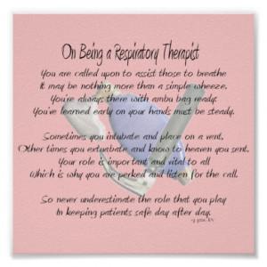 Respiratory Therapist Poem/Poster