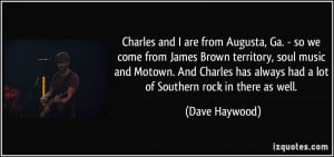 ... Motown. And Charles has always had a lot of Southern rock in there as