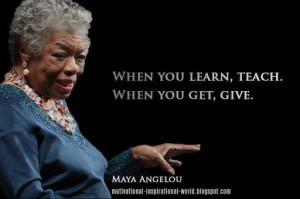 maya angelou quotes education