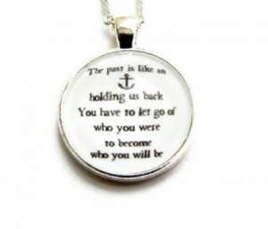 Nautical,Anchor,Carrie,Bradshaw,Quote,Necklace,quote, black, white ...