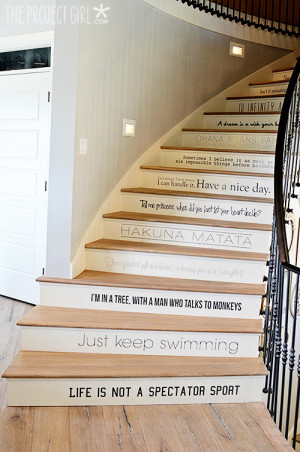stairs leading up to the attic were also a favorite. Playful quotes ...