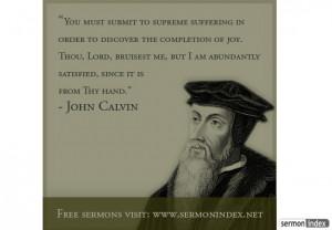 John Calvin John calvin quote