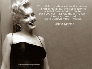 Marilyn Monroe Quotes Inspiration And Cute: Marilyn Monroe Quote In ...