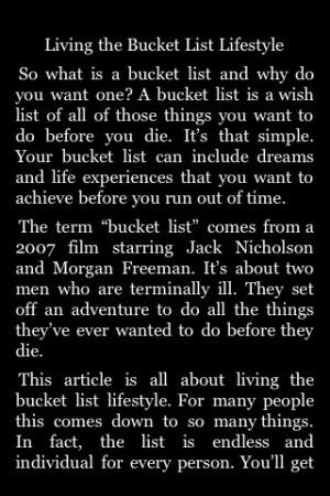 Bucket List Quotes