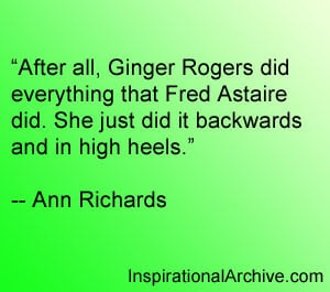 After all ginger rogers, Quotes