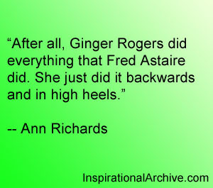 Ginger Rogers Quotes Quotesgram