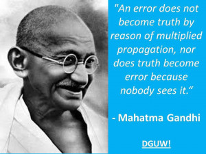 Motivational Wallpaper on Truth : Mahatma Gandhi with quote on truth